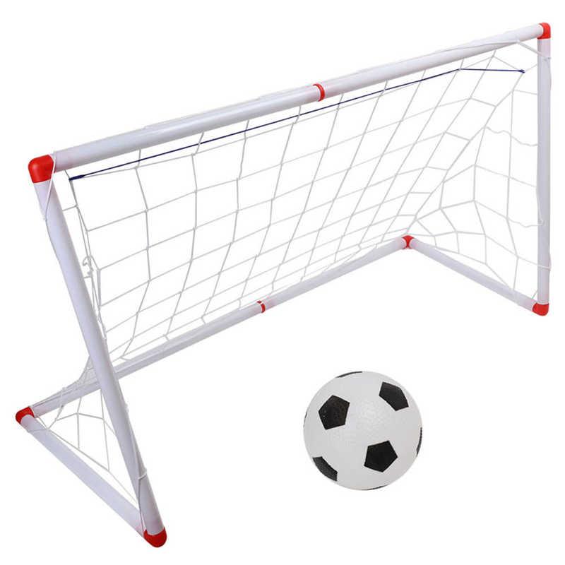 Мини-футбол для детей на открытом воздухе, набор сетки для футбола с насосом для мяча, Детская Спортивная игрушка