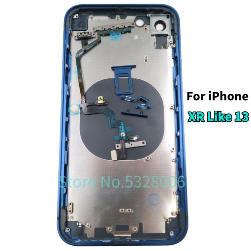 High quality Back Cover Housing For iPhone XR into iPhone 13 Housing with Flashlight Cable Make For iPhone xr Like iPhone 13 enlarge