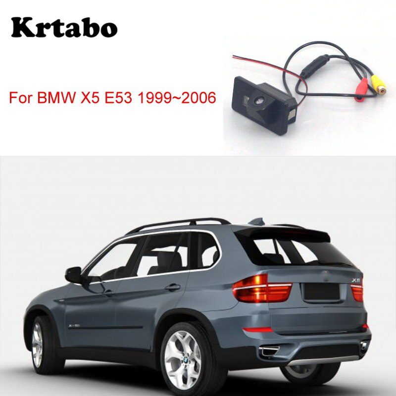 krtabo Car rear camera For BMW X5 E70 2006~2013 back up car night vision reversing   camera CCD HD waterproof camera