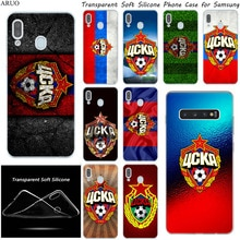 Russia PFC CSKA Moscow logo Soft Silicone phone case for Samsung Galaxy A71 A51 A10S A80 A70 A50 A90 A30 A40 A20 A41 A21 A31 A11