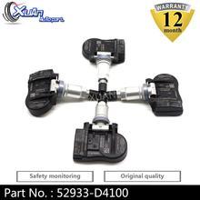 XUAN 4 шт. датчик давления в шинах TPMS 52933-D4100 52933D4100 для Hyundai Genesis Sedan Kia Optima Sportage Sorento Niro