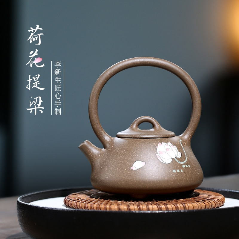 TaoYuan 】 إبريق شاي yixing xin-sheng li نقي يدوي, مغرفة شي دوان لوتس مزلقة 180 سم مكعب