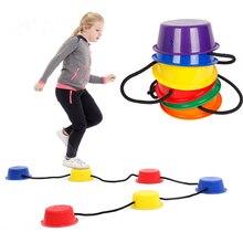 Pas à pas enfants Balance étape seau enfants bambin sensoriel jouer intérieur extérieur jouets Sport jeux ensemble de 6