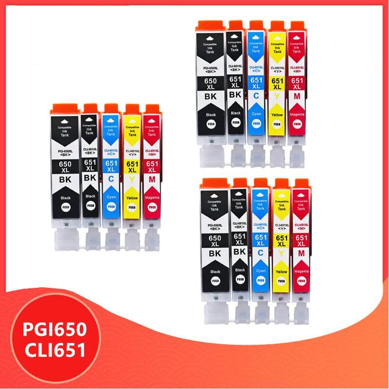 Kompatibel PGI 650 CLI 651 650XL Tinte Patronen PGI650 CLI651 für Canon Pixma MG6360 MG6460 MG7160 IP7260 iX6860 iP8760 MX726