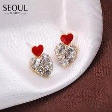 AENSOA – boucles doreilles cœur pour femmes, cadeau de saint valentin, nouvelle collection