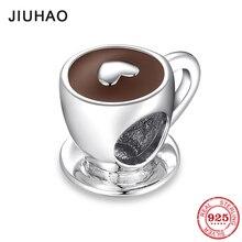 Nieuwe Mode 925 Sterling Zilveren Liefde Gratis Tijd Hart Koffiekopje Kralen Past Originele Pandora Charms Armband Bangles Diy Sieraden