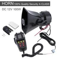 universal motorcycle car alarm sound 7 tone horn 12v 100w police siren horn loudspeaker grill mesh firemen ambulance megaphone f