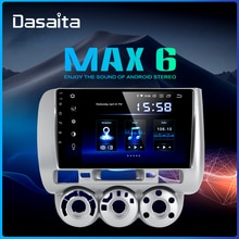 "Dasaita 9 ""dsp 차량용 라디오 1 din android 9.0 for honda jazz fit 2004 2005 2006 2007 2008 gps 네비게이션 1080 p 오디오 tda7850 hdmi"