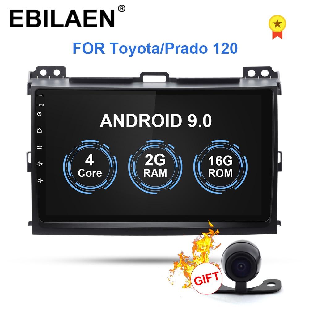 YUEMAIN coche reproductor Multimedia 2Din 8,1 android cinta grabadora estéreo GPS para Toyota Land Cruiser prado 120, 2004-2009 9 pulgadas radio