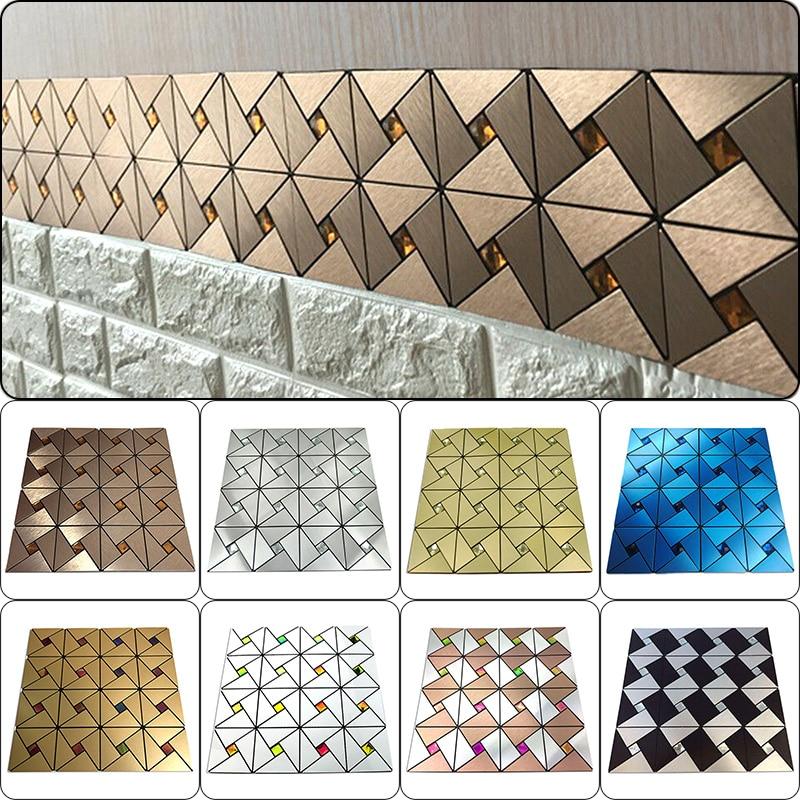 Self Adhesive Mosaic Stick Wall Tile Backsplash Kitchen Bathroom Washbasin Living Room Home Background KTV Decor Wall Decals
