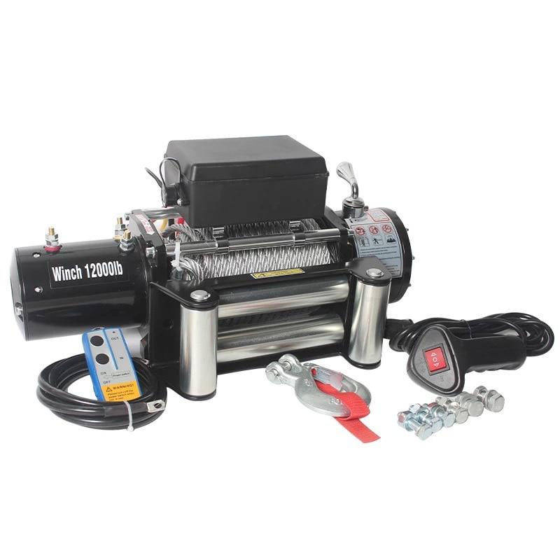 12 В 24 В Автомобильная самоспасательная Лебедка для внедорожника электрическая лебедка для автомобильного крана 6000 фунтов