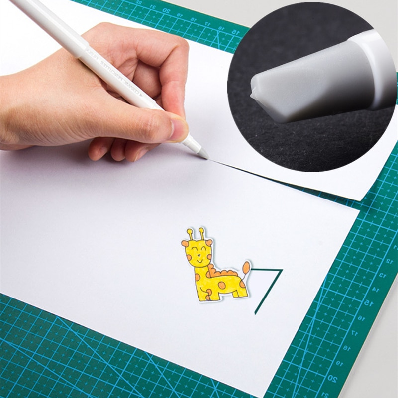 1pcs creativo pluma de papel cuchillo resistente al desgaste diario libro de mano de cinta de cuchillo de cerámica cuchillo cuchillas de corte