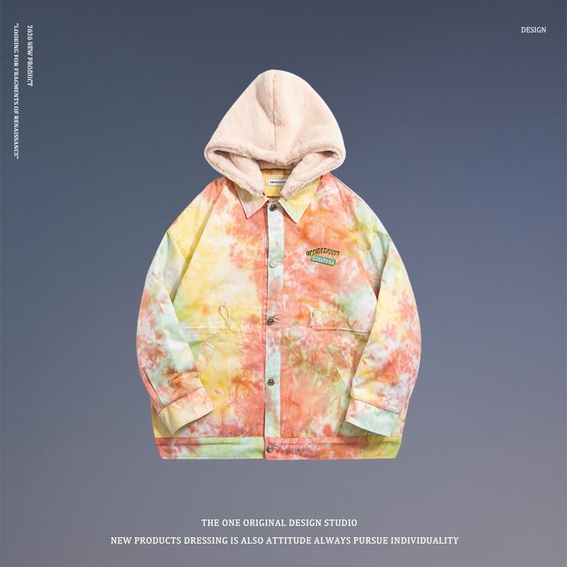 Winter Parka Down Fur Hood Removable Windproof Luxury Hip Hop Jacket Outdoor Streetwear Kurtka Zimowa Loose Clothes B50PS