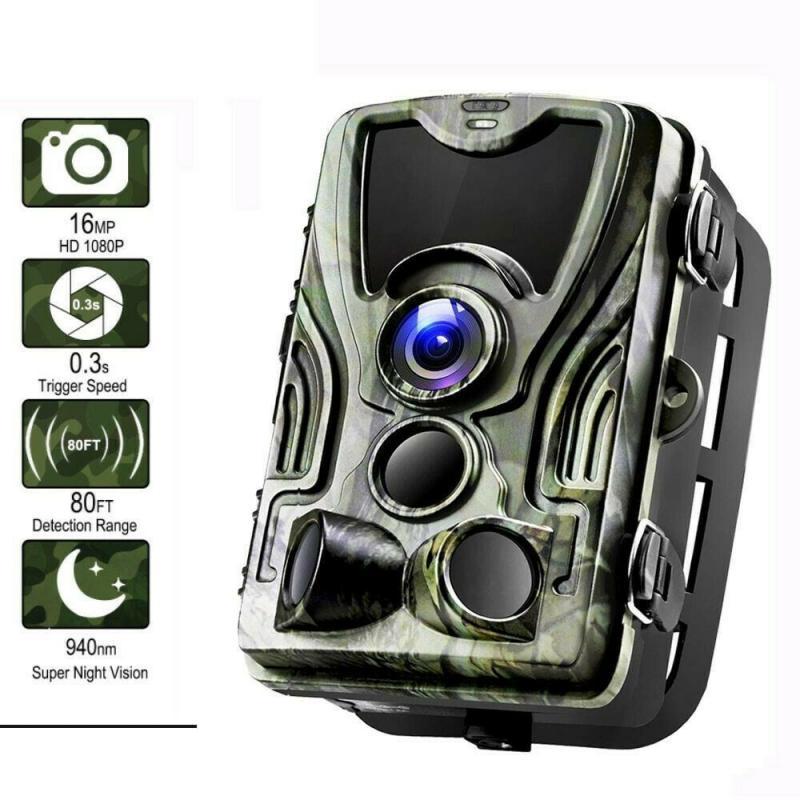 كاميرا صيد بالأشعة تحت الحمراء بدقة 16 ميجابكسل عالية الدقة 1080 بكسل ، ومراقبة الحياة البرية ، وكاشف الصيد