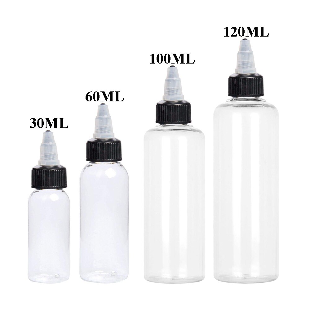 30 шт. 30 мл 60 мл 100 мл 120 мл Пластик флакон-капельница бутылка прозрачная ПЭТ-е бутылки для жидкости с Закруткой шапки Краски бутылки чернил недорого