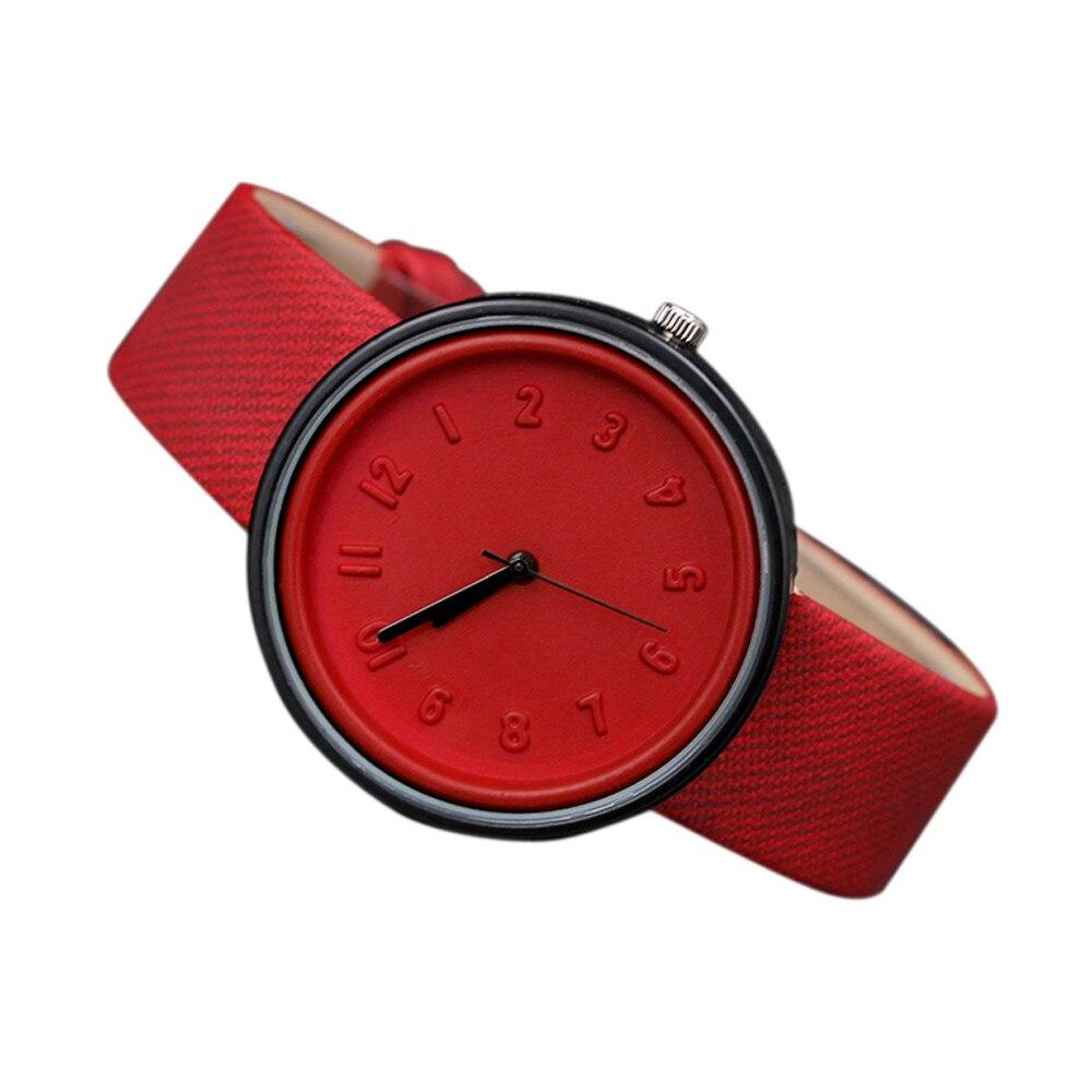 Unisex Simple Fashion Number Watches Quartz Canvas Belt Wrist Watch Women Ladies Watch Модные