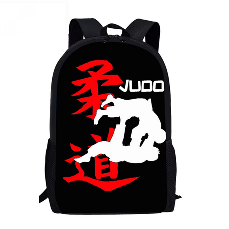 Детский рюкзак искусство айкидо дзюдо шаблон детская школьная книга сумки крутой каратэ Kongfu дизайн подростковые школьные сумки