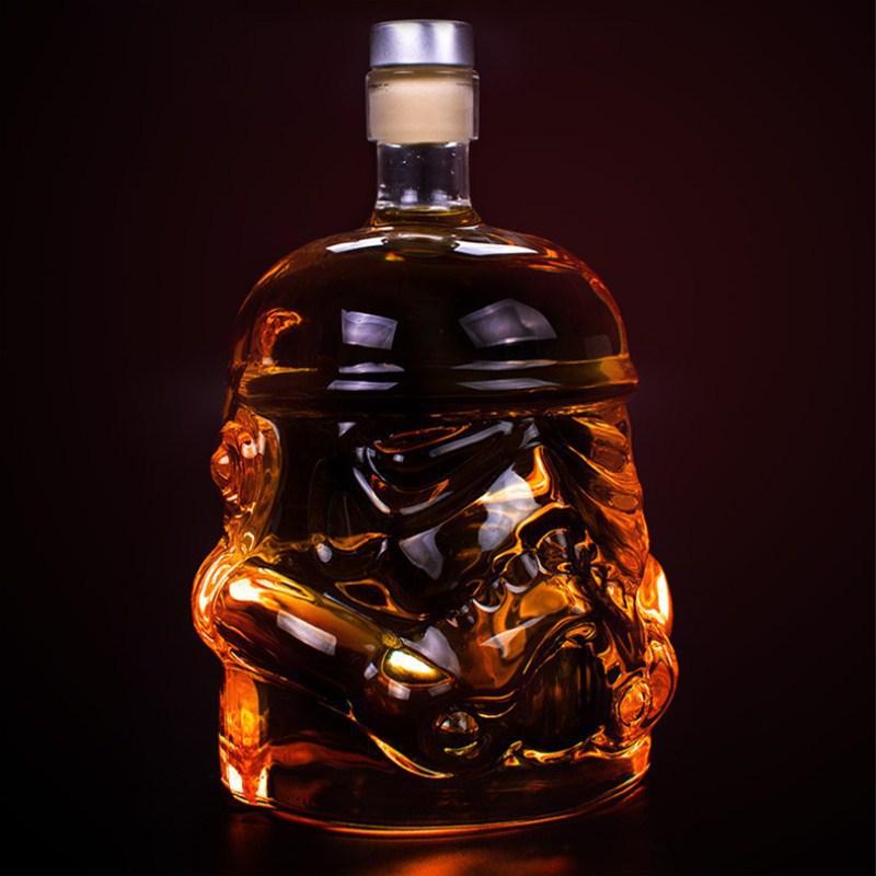 1 Pcs Storm Trooper Decanter  White Soldier Glass Jug Liquor Bottle High Boron Glass Bottle Wine B 650ml