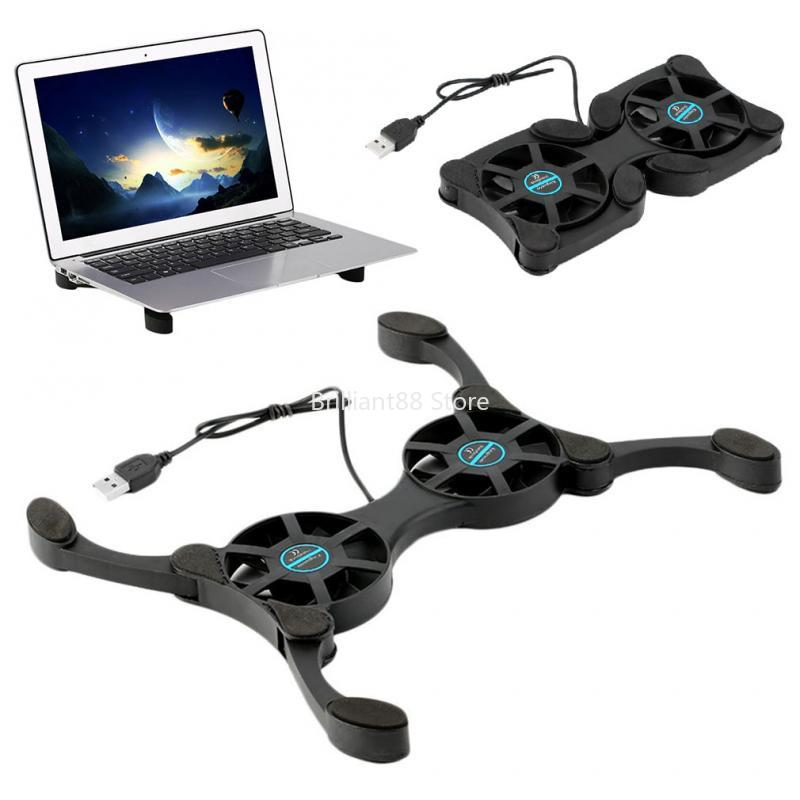 Adjustable Laptop Cooling Pad, Dual Fans Gaming Cooler Stand with 1 USB Ports for 14-17 inch Laptop, New
