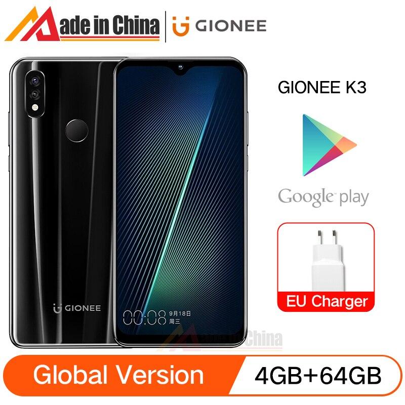 Перейти на Алиэкспресс и купить Смартфон глобальная версия GIONEE K3, 4 Гб ОЗУ + 64 Гб ПЗУ, экран 6,2 дюйма, 5000 мАч, Восьмиядерный процессор MTK6763, двойная камера 16,0 Мп с искусственным ...