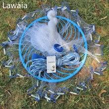 Lawaia Casting Netto Diameter 240Cm-720Cm Diep Gat Amerikaanse Stijl Hand Gooien Visnet Kleine Mesh visnet Met Ring