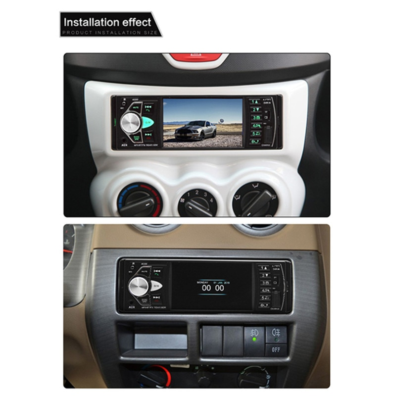 Купить с кэшбэком 4.1 Inch HD Car Radio MP5 Player Bluetooth Music Hands-free Calling Vehicle Touch Screen Stereo FM Radio 4022D with Rear Camera