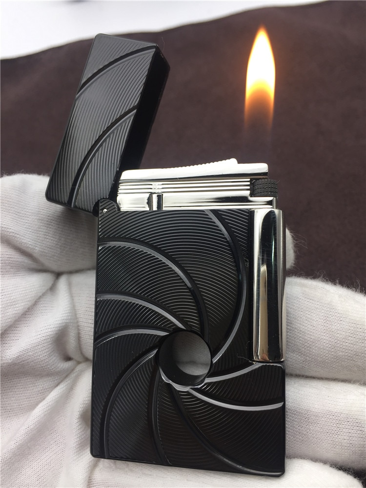 2020 Gas Lighter Butane Metal Flint Fire Lighters PING Bright Sound Cigarette Cigar Lighter Smoking Tool Men Gift Gold Hot Sell enlarge