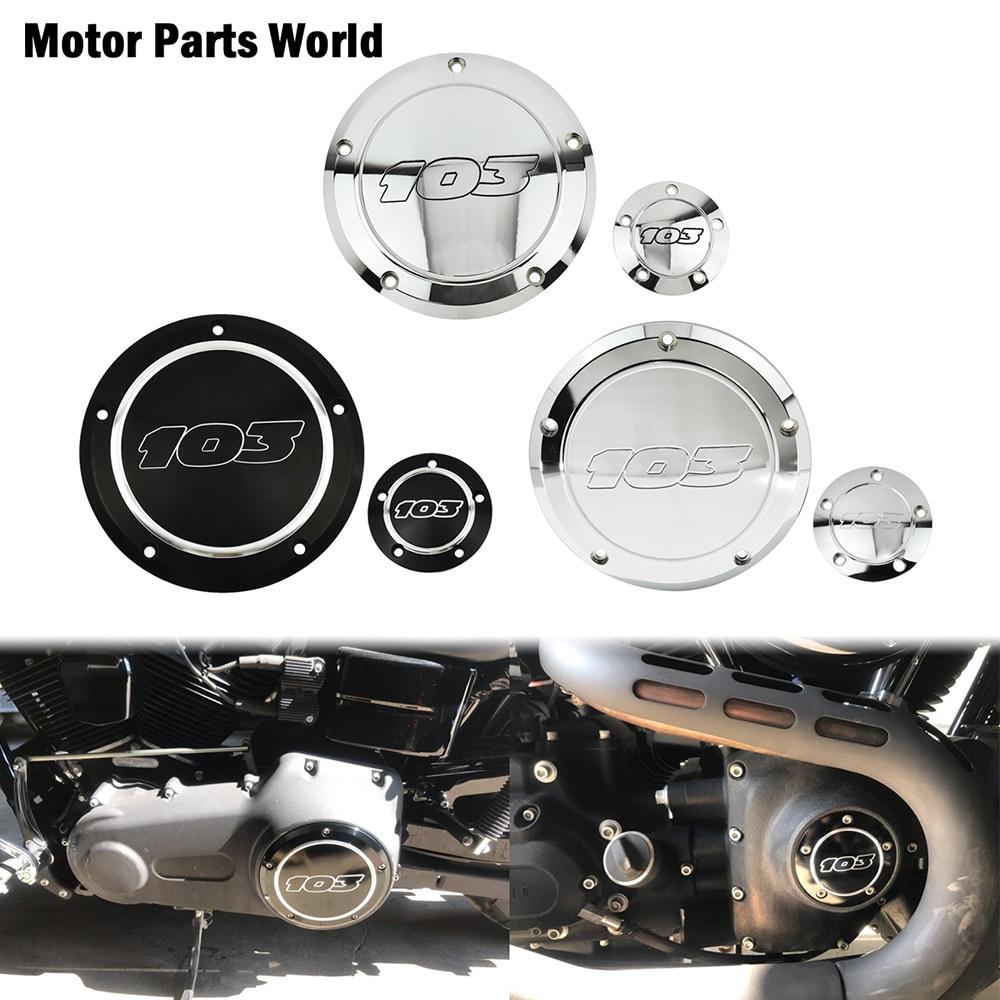 غطاء جانبي للدراجة النارية موديل 103 مناسب لدراجات هارلي داينا ، غطاء جانبي مخصص لدراجة نارية سوفتيل فات بوي تورينغ ستريت سيل