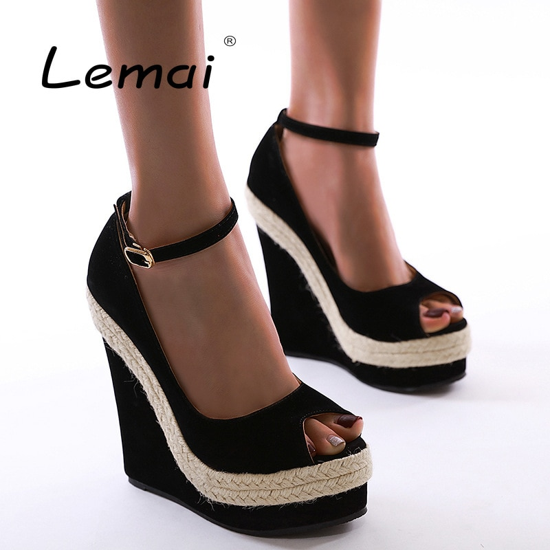 Peep-toe Shallow Super High-heeled Ladies Sandals Summer New Fashion Solid Color Women's Shoes Platform Wedges Stiletto Shoes