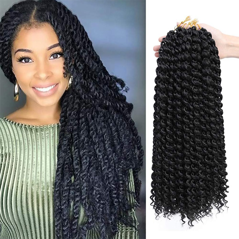 Crochet Passion Twist Hair Water Wave Synthetic Kinky Twist Ombre Braid Hair Wigs Extension Spring Twist Hair 22strands/pack