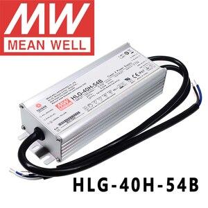 Mean Well HLG-40H-54B для улицы/высокого залива/Теплицы/парки нга  meanwell 40 Вт постоянное напряжение с драйвером постоянного тока для светодиода