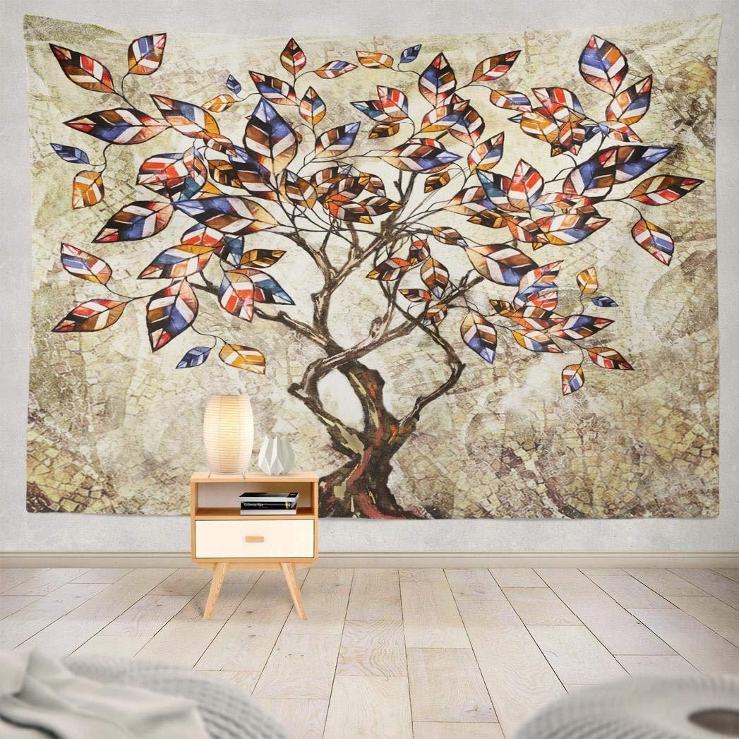 Tecido de poliéster tapeçaria óleo lona árvore moderna arte interior famosa parede pendurado