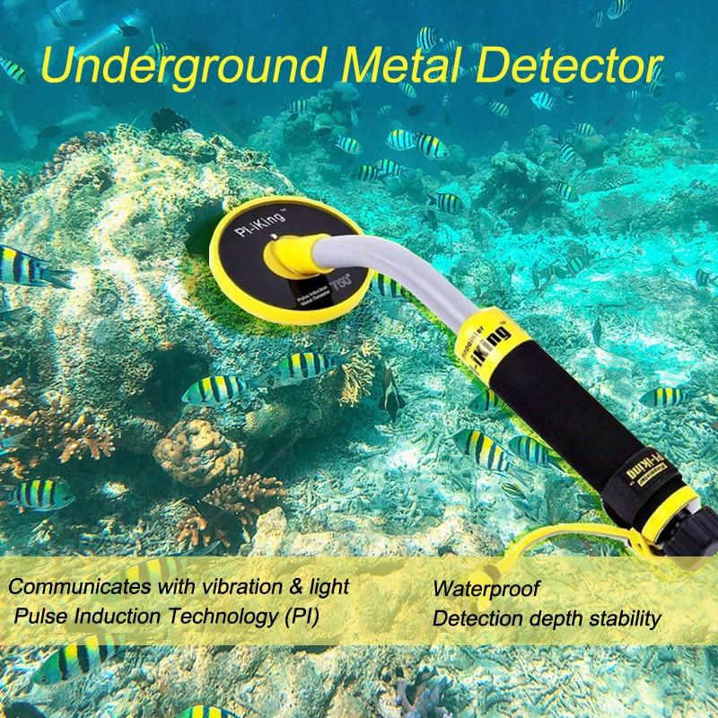 Pi-iking 750 30 متر استهداف مؤشر نبض التعريفي (PI) تحت الماء للكشف عن المعادن المحمولة مقاوم للماء هزاز مع مصباح ليد