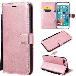Funda sfor apple iphone 8 plus 8 plus iphone 8 iphone8 caso da aleta simples cor sólida luxo carteira de couro do plutônio capa de telefone móvel