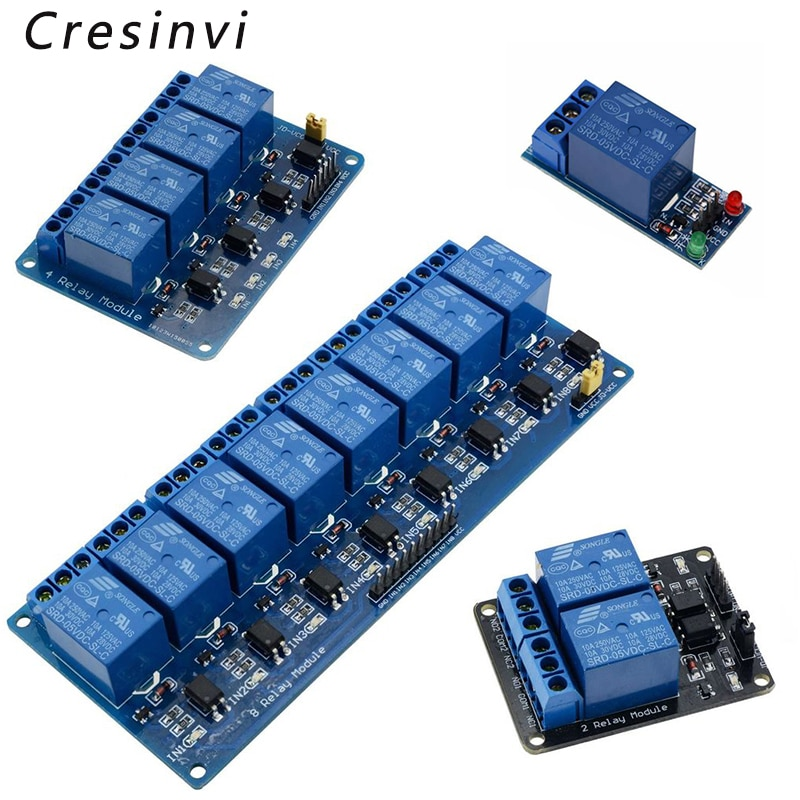 1 2 4 8 canais dc 5 v módulo de relé com optoacoplador baixo nível gatilho placa expansão para arduino