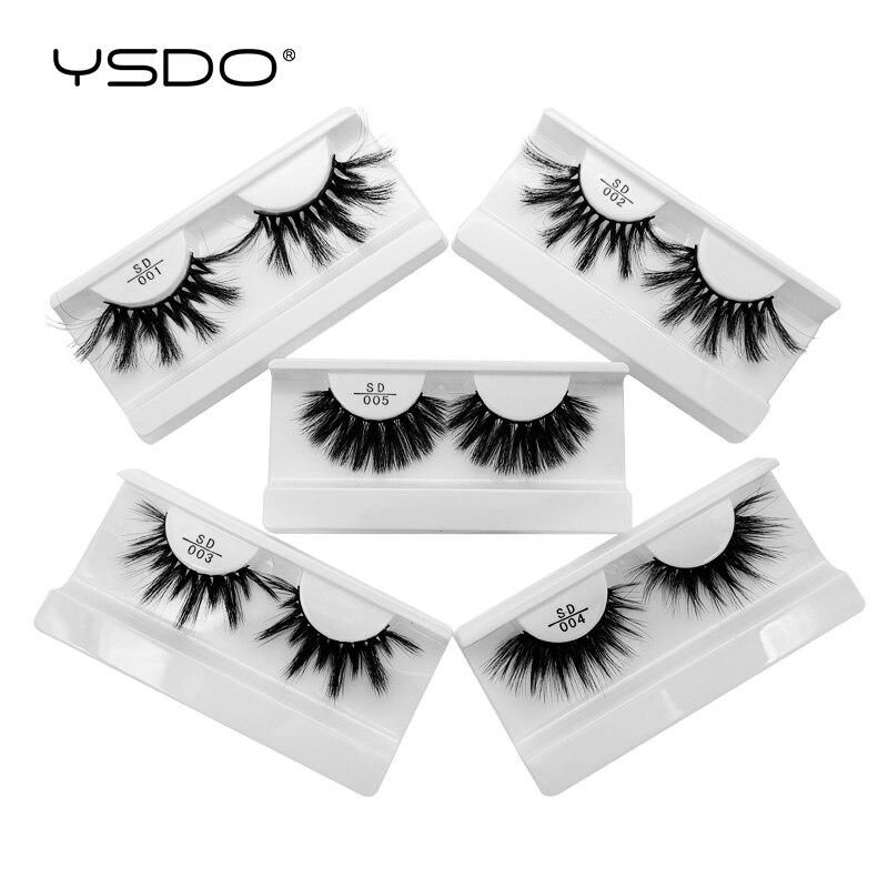 YSDO 25MM 3D Mink Fake EyeLashes 1 Pair False EyeLashes Faux Cilios All Hand Made Lashes MakeupFalse EyeLashes  Thick EyeLashes