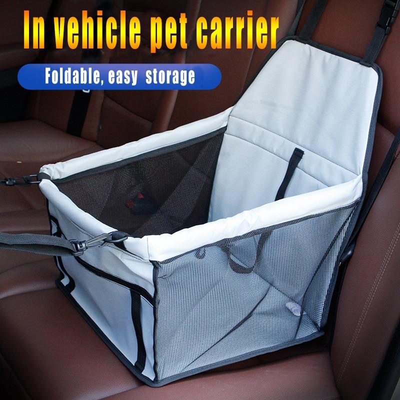 Accesorios de asiento de coche para perro, hamaca de pie para transporte para perro en un coche, para gato Transportín, jaula para perro, suministros para vehículos, asiento de coche