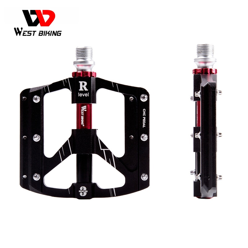 bicycle pedals 3 bearings aluminum alloy ultralight anti slip road mtb bike pedal cycling sealed bearing bike pedals accessories WEST BIKING Bike Pedal MTB Road Bicycle Pedals Purple Aluminum Alloy Platform 3 Sealed Bearing Ultralight Cycling Bike Pedals