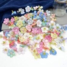 Mini fleurs artificielles en soie 2cm   Fleurs artificielles en tête pour décoration de mariage maison, décoration en guirlande diy pour coiffure, décor de fausses fleurs