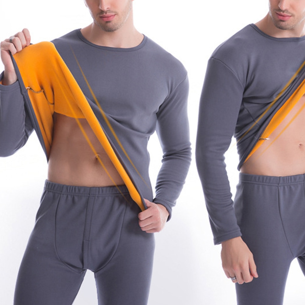 Women/Men Ultra Soft Thermals Underwear Long Johns Set with Thick Plush Lined d88