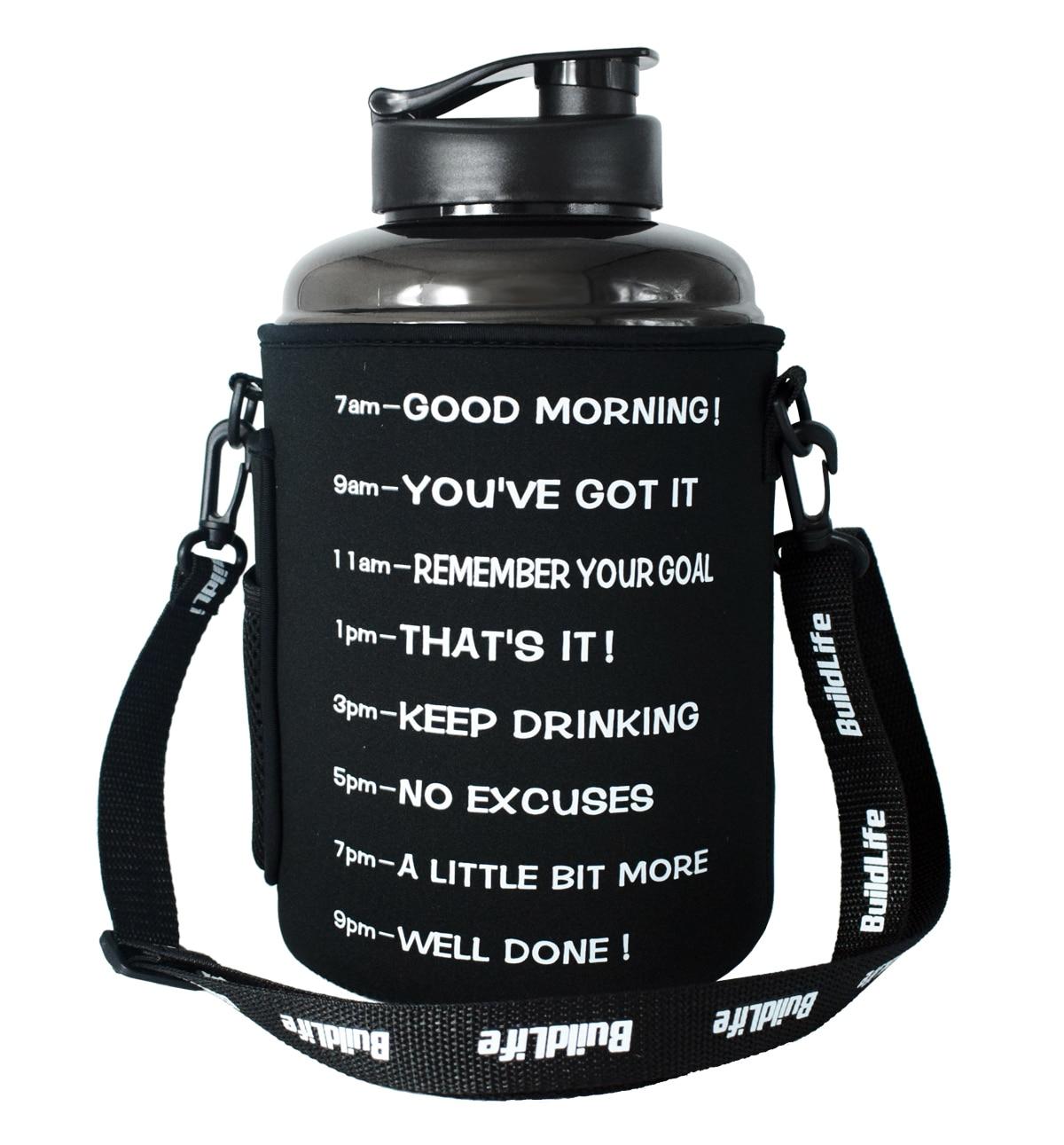 Quifit-bouteille de boisson pour sport   Sac, sac, porte-housse avec bandoulière, pour sport Gallon eau potable, cruche de sport, 2,2l 2,5l 3,78l
