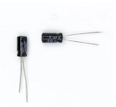 50PCS 50V 1UF 1UF 50V Electrolytic capacitor Size 5*11MM 50 V / 1 UF Aluminium electrolytic capacitor конденсатор duelund vsf 100 v 4 7 uf aluminium