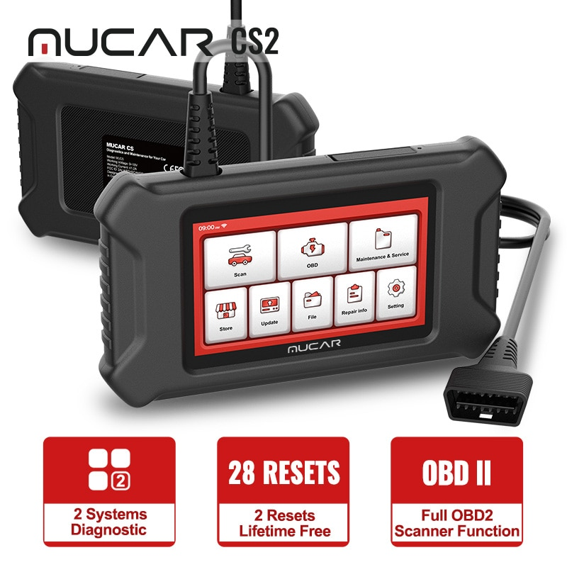 MUCAR CS2 OBD2 Scanner for Car ABS/SRS System Oil/EPB Reset Obd2 Scanner Free Update Car Diagnosis Diagnostic Tool Free Shipping