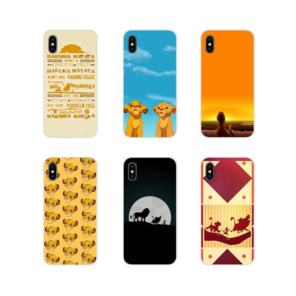 For BQ Aquaris S 5059 5035 6040L C V Plus X X2 Pro U U2 Lite M 2017 E 4.5 E5 X5 Soft Transparent Bag Case The Lion King Patterns
