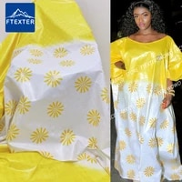5 yards 2021 unique design african lace fabric jacquard style printed bazin riche brocade for sewing senegal festival material