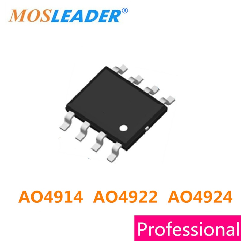 Mosleader 100 قطعة SOP8 AO4914 AO4922 AO4924 N-قناة 4914 4922 4924 عالية الجودة