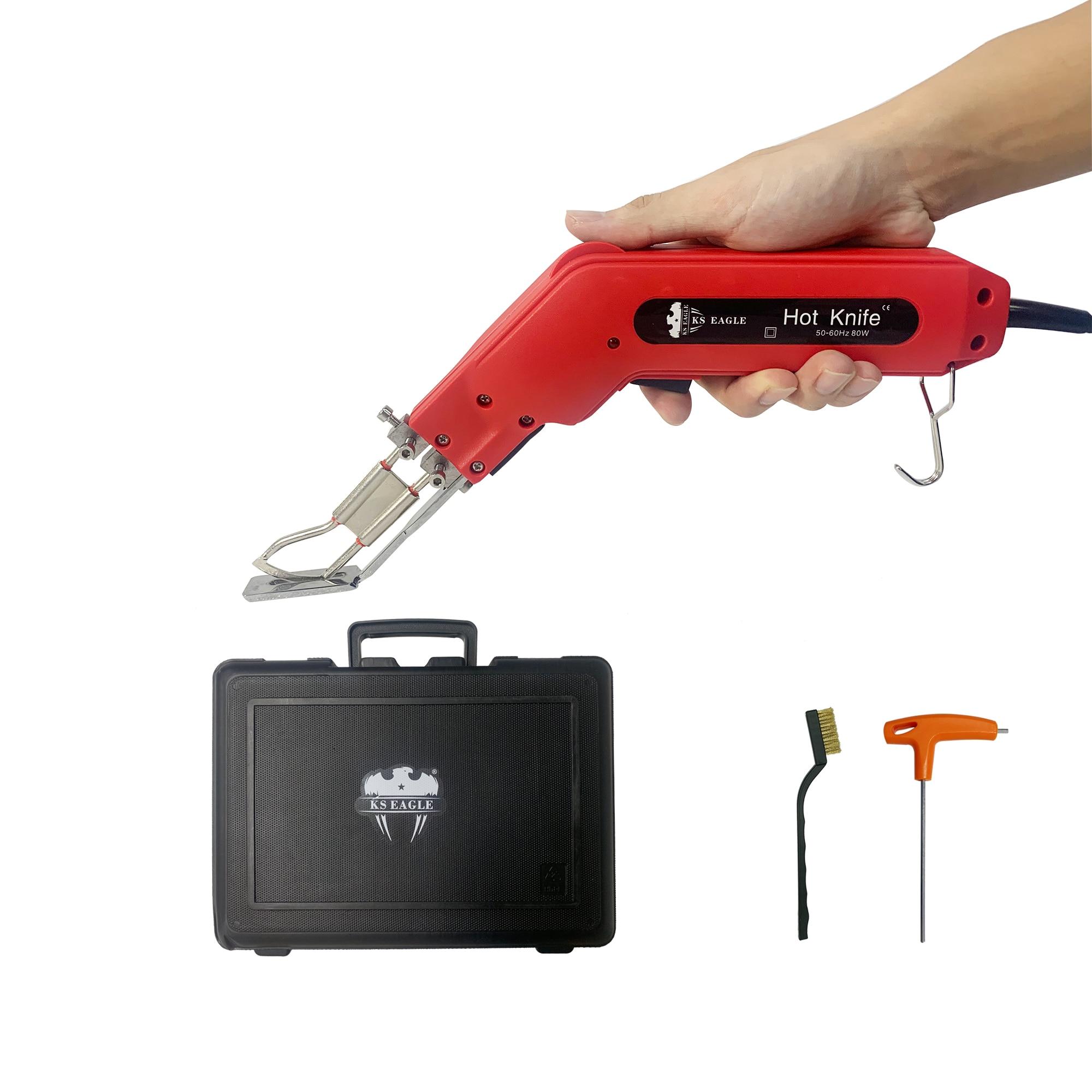 Электрический горячий нож Ks Eagle, нож для резки ткани 80 Вт, для резки ткани/веревки/пластика/акрила и уплотнения синтетических тканей