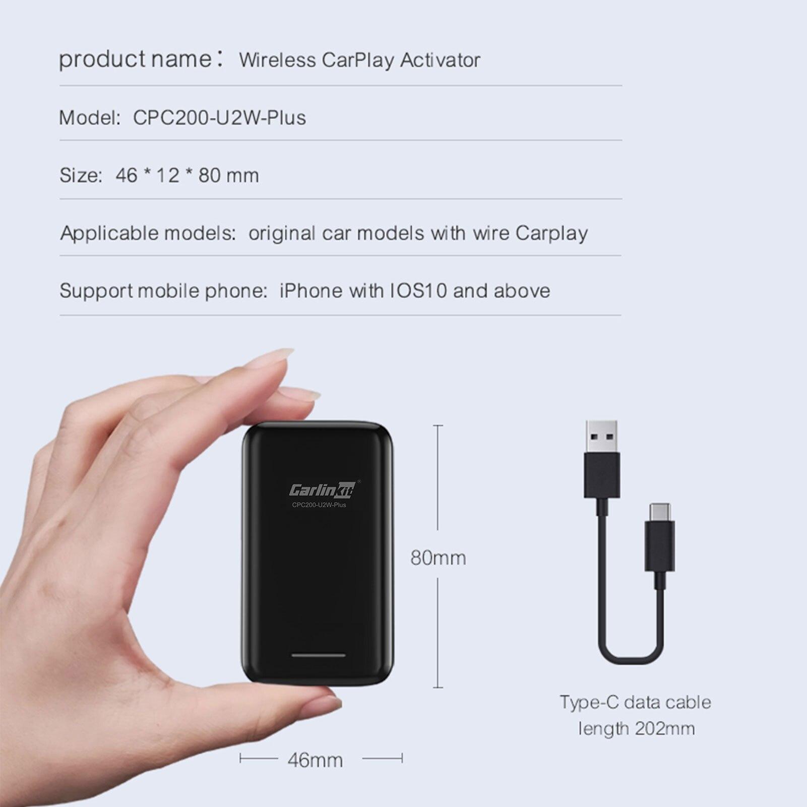 Купить с кэшбэком Carlinkit 3.0 Apple CarPlay Wireless Dongle Activator For Audi Proshe Benz VW Volvo Toyota IOS 14 Plug And Play Car MP4 MP5 Play