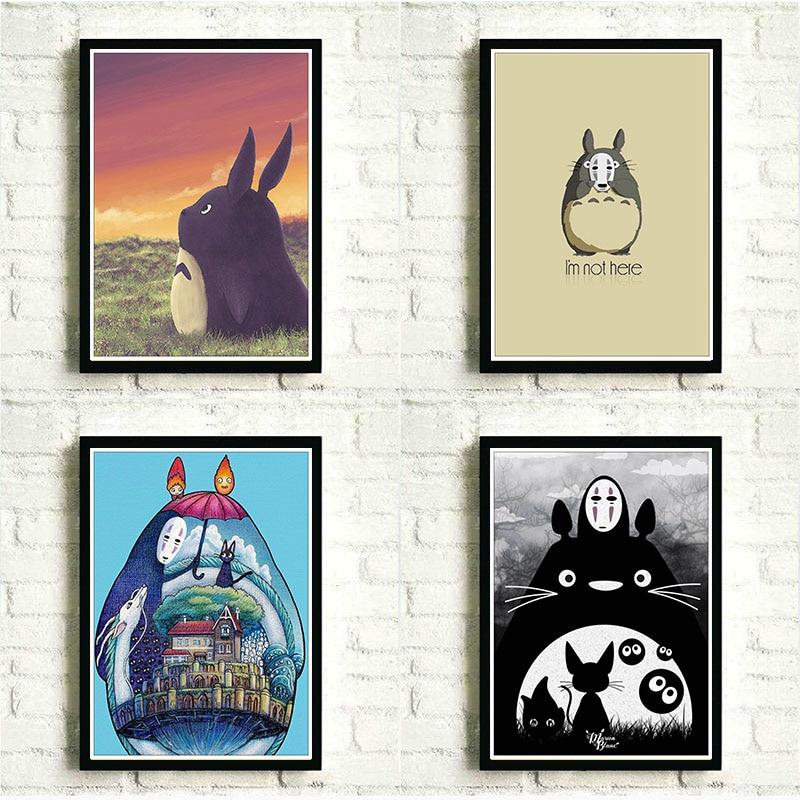 Affiche de Totoro haiao Miyazaki   Mon voisin, Art danimation japonais, peinture murale classique, décoration intérieure