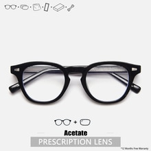 Prescription Eyeglasses Custom Japan Glasses Frame Acetate Round Glasses Prescription Glasses Men Cu